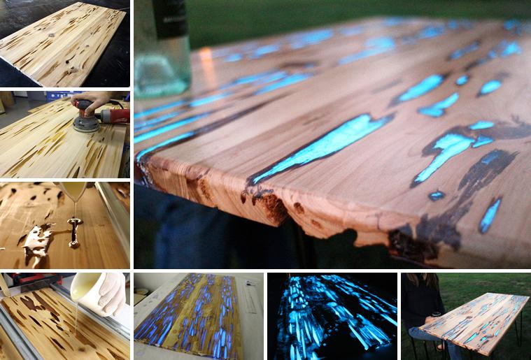 Unesite magiju u dom: Napravite stol koji sija u mraku